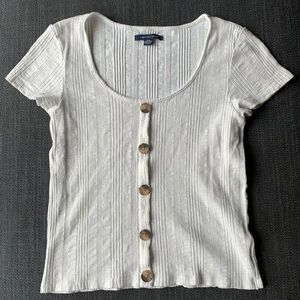 AMERICAN EAGLE OUTFITTERS | Ribbed Crop Top